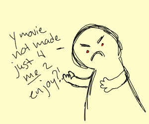 Enraged movie critic