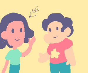 Connie saying hi to Steven