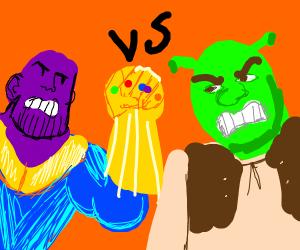 Thanos vs Shrek