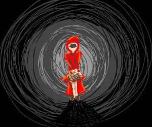 Creepy little red riding hood