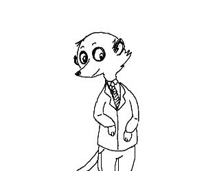 Meerkat in school uniform