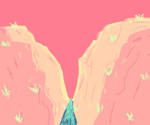 river flowing through a canyon