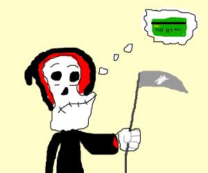 Grim Reaper wants credit card