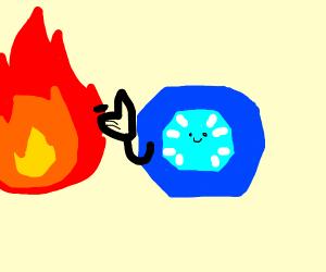 a blue gem bakes cookies