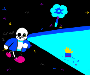 Why is Megalovania playing in Waterfall?