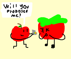 Tomato got proposed