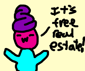 its free real estate but this face -w-