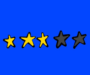 3 stars :(