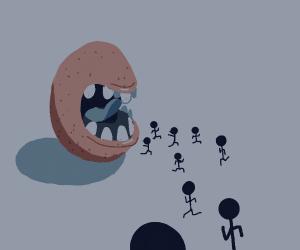 Potato eats people