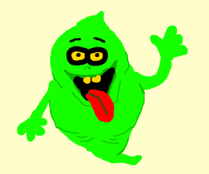 Slimer greets you