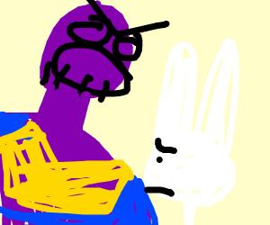 Thanos yells at rabbit
