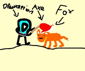 drawception planning on cutting the fox head