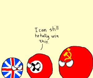 Overwhelmed nazi