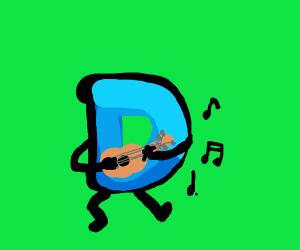 Drawception playing ukulele