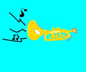 Trumpet makes the weirdest sounds!
