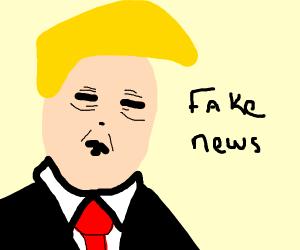 Non-orange Trump?! Fake news!!