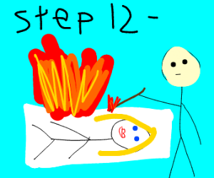 Step 12: burn that body pillow!!!!!!!!!!!!!!!
