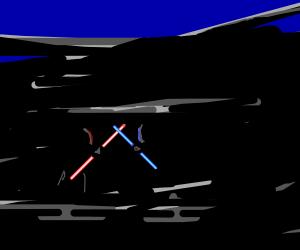 Double Lightsaber Fights (Red V Blue)