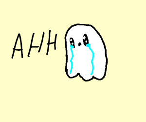 Ah! A sad ghost!