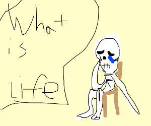 a skeleton does't understand life