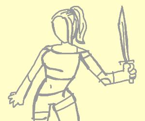 Warrior with a strange fashion sense