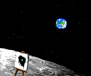 Artist on the Moon