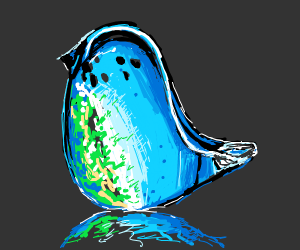 The glass bird.