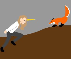 fox VS unicorn man