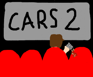 Spilling Baked Beans In A Theater Drawception