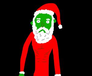 Green Skinny Santa