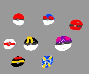 Assorted Pokeballs