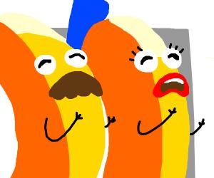 Sad ananas crying and quivering