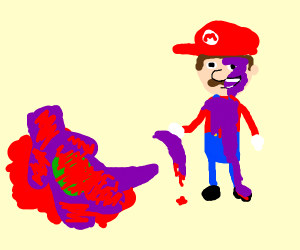 Mario kills Barney and wears his skin