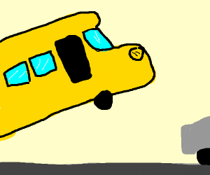 The magic schoolbus starts to fly
