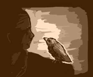 Bird comforting his friend