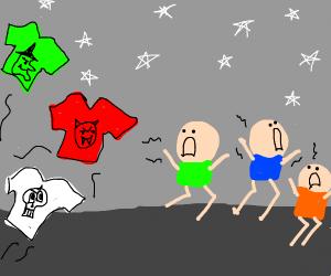 children haunted by malicious shirts