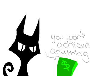 Money abuses cat