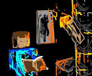 reading by minecraft torchlight
