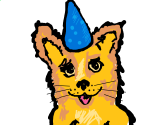 furry at a birthday party