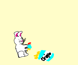 Bunny cleans chip