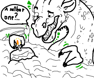 Dragon found another cake in the sky