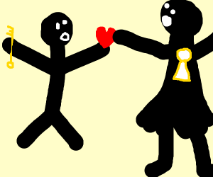 man with key loves keyhole woman