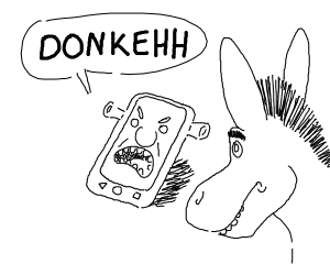 "Shrek phone yells ""DONKEHH"""