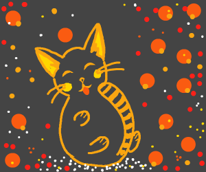 Sweet orange kitty