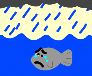 Sad Fish on a Rainy Day