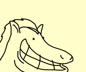 Horse's smile