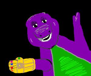 Barney is thanos