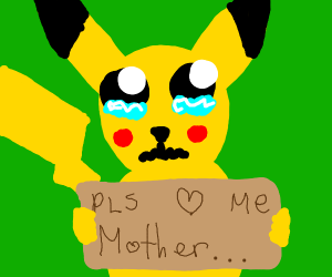 A Pikachu only a mother can love