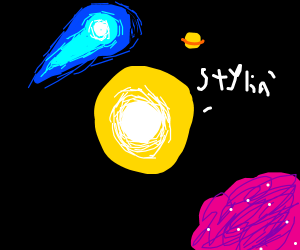 the sun is noting the epic style of space