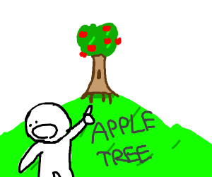 yay!!!!!! apple tree!!!!!!!!!